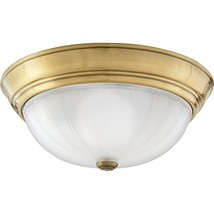 Quoizel ML183AUL Melon Flush Mount Ceiling Lighting, 2-Light, 150 Watts,... - $54.38