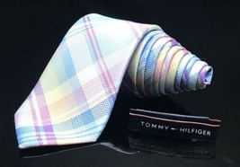 TOMMY HILFIGER MENS NEW 100%SILK CLASSIC NECK TIE WITH STRIPES WIDTH: 3 ... - $34.95