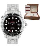 MINT Omega Seamaster 41mm Black Co-Axial 300M Steel Watch 212.30.41.20.0... - $2,993.92