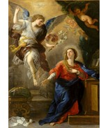 The Annunciation by Luca Giordano, 1672 Italian Old Masters 7.5x10 Print - $19.79