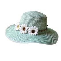 Large Brimmed Hat Child Children Folding Beach Hat UV Girls Summer Sunscreen image 2