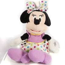"Minnie Mouse Plush 9"" Disney Polka Dot Easter Spring Purple Stuffed Animal - $11.77"