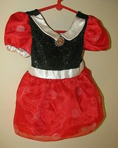 Disney store Minnie Mouse Baby Girl 6-12 M Costume Dress Red & Black bodysuit  - $10.88
