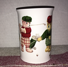 Vintage HARRODS KNIGHTBRIDGE Golfing Bears Bone China Coffee Mug - $9.00