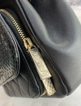 AUTH NEW CHANEL BLACK RARE PYTHON AFFINITY FLAP BAG  2 WAY HANDLE BAG RECEIPT  image 5