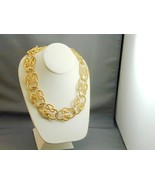 Givenchy Gold Tone Twisted Rope Knot Runway Necklace Never Worn - $250.00