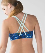LULULEMON Free To Be Wild Windy Bloom Dotted Workout Strappy Bra, Size 6 - $40.00