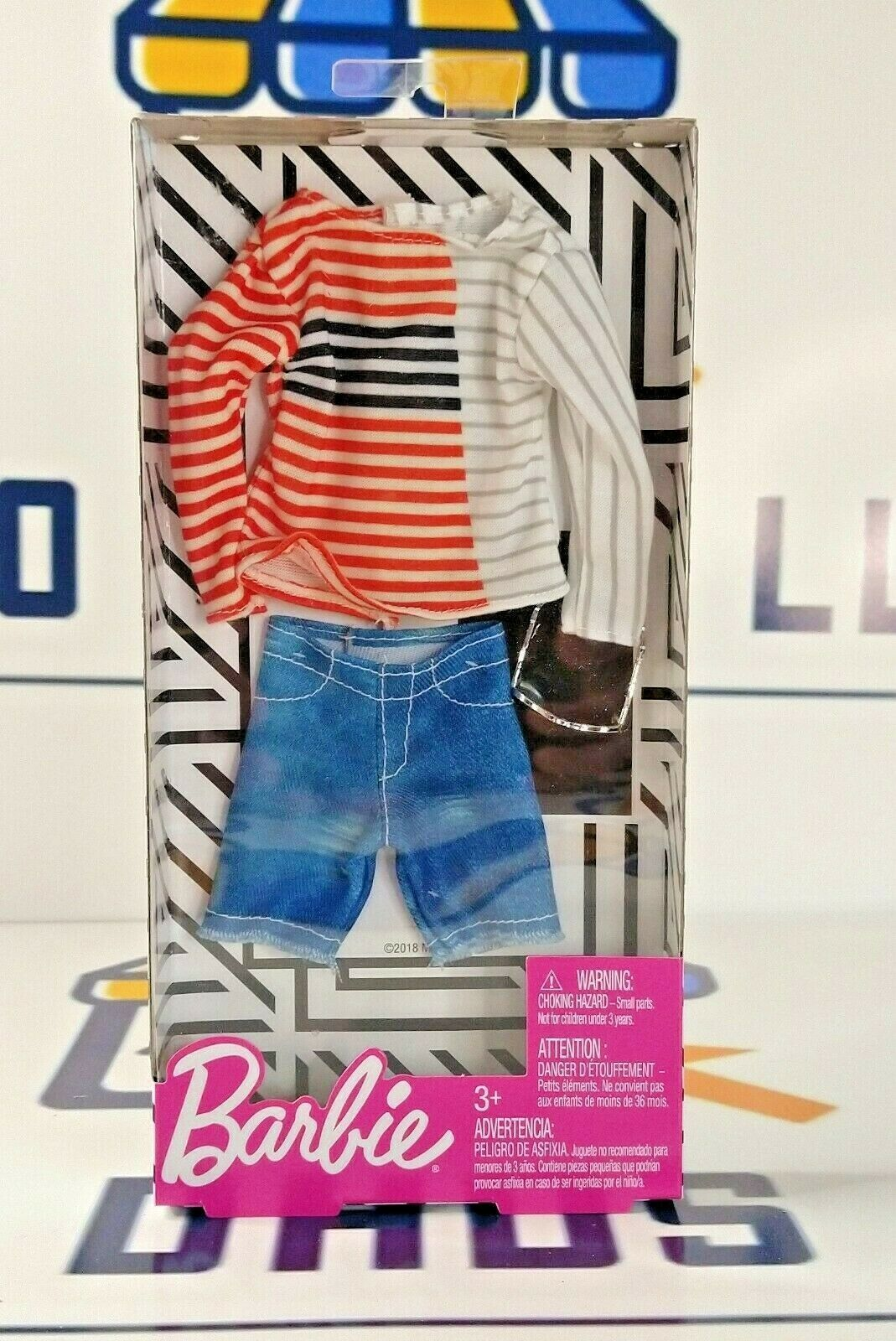 Primary image for New Mattel Barbie Fashions Ken Stripped Boatneck Fashion Pack with Accessory