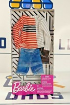 New Mattel Barbie Fashions Ken Stripped Boatneck Fashion Pack with Acces... - $13.99