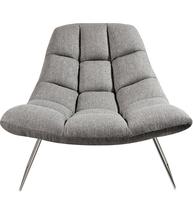 Adesso GR2004-03 Chairs Light Grey Soft Textured Fabric Steel Bartlett - $400.00