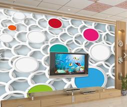 3D Viele Farbige Kreise 393 Fototapeten Wandbild Fototapete BildTapete FamilieDE - $52.21+