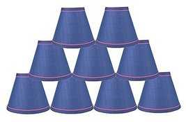 Urbanest Set of 9 Hardback Faux Silk Chandelier Lamp Shade with Trim, 3-inch by  - $49.49