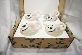 Ceramic Snowman Mugs Set of 4 NIB - $19.30