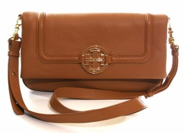 Tory Burch Amanda foldover Sacoche Messager Sac à main Royal BRONZAGE BRUN - $428.75
