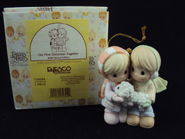 Precious Moments 730084 Our First Christmas Together Ornament 2000 Free Shipping - $19.95
