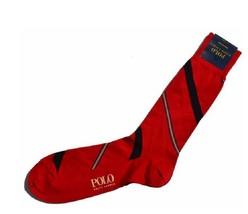 POLO Ralph Lauren Pima Cotton Diagonal Stripe Designer Red Socks SIZE 10-13,$26 - $12.86