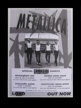 METALLICA 1996 Load European Tour Concert Handbill UK Only