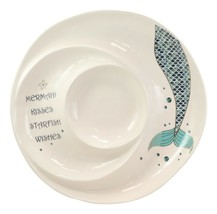 Mermaid Kisses Starfish Wishes Ceramic Chips Dips Salsa Family Serving P... - $36.99