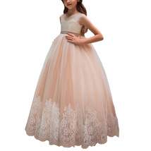 Newly A Line Lace Flower Girl Dresses Appliqued Kids Party Gowns With Belt 2019 image 4
