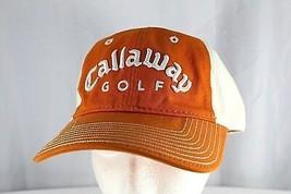 Callaway Golf Orange/White Baseball Cap Adjustable  - $19.95
