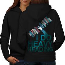 I Do Heavy Reading Sweatshirt Hoody Weight Lift Women Hoodie Back - $21.99+