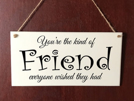 Hand Made DELUXE Plaque Friend Friends Birthday Sign Present  Gift - $9.53