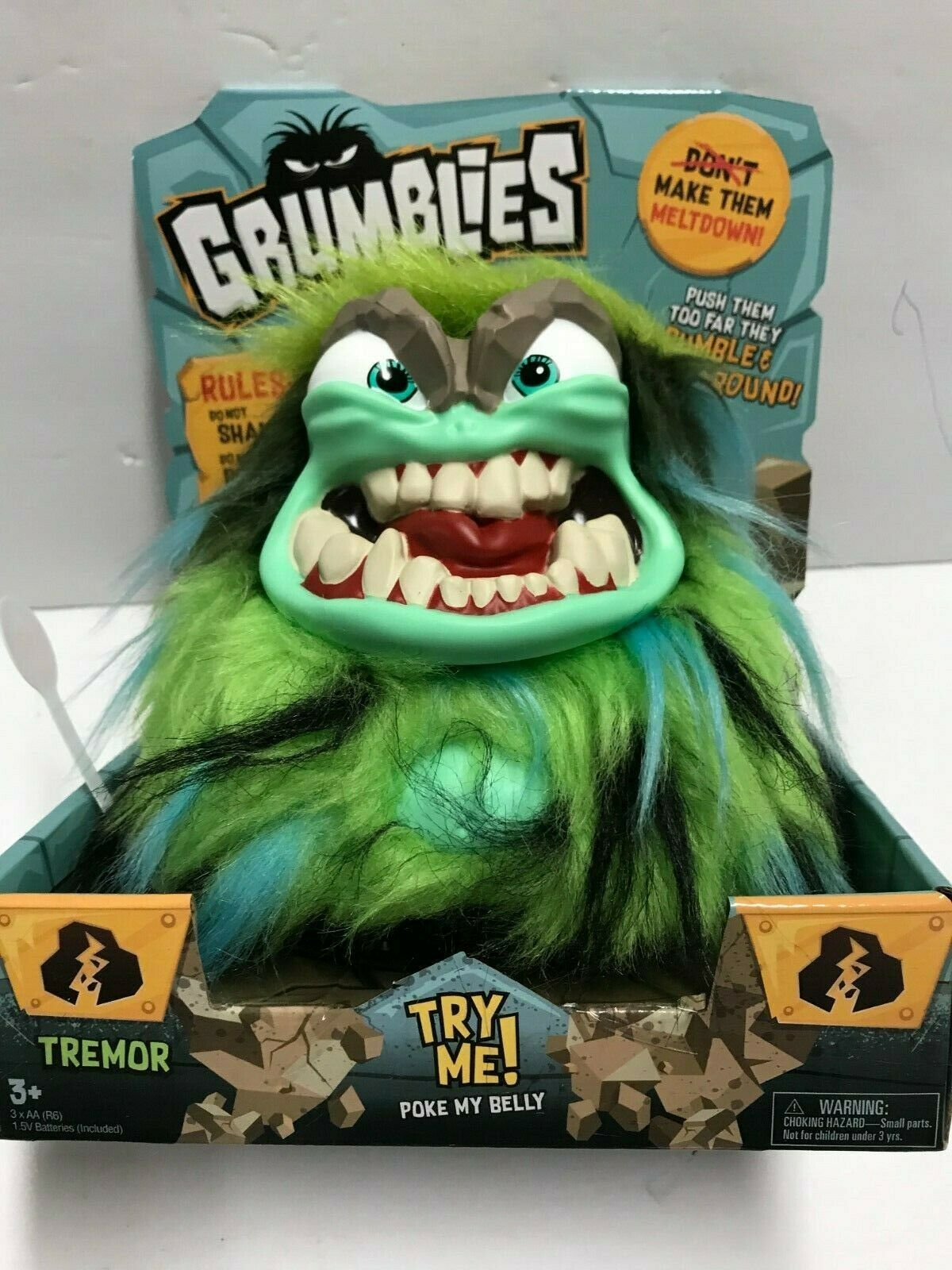 Grumblies Tremor Green Interactive Toy New in Box