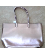 Bath And Body Works VIP Tote ROSE GOLD Metallic Bag Tote New With Tags - $34.99