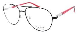 GUESS GU3029 005 Eye Candy Eyeglasses Frames Aviator 53-14-135 Black / Red - $64.25