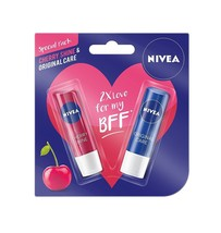 Nivea Lip Care, Cherry, 4.8g with Lip Care Essential, 4.8g Fast shipping - $11.72