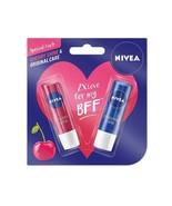 Nivea Lip Care, Cherry, 4.8g with Lip Care Essential, 4.8g Fast shipping - $11.72