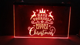 Merry Little Christmas LED Neon Light Sign Home Business Tree Window Dec... - $22.72