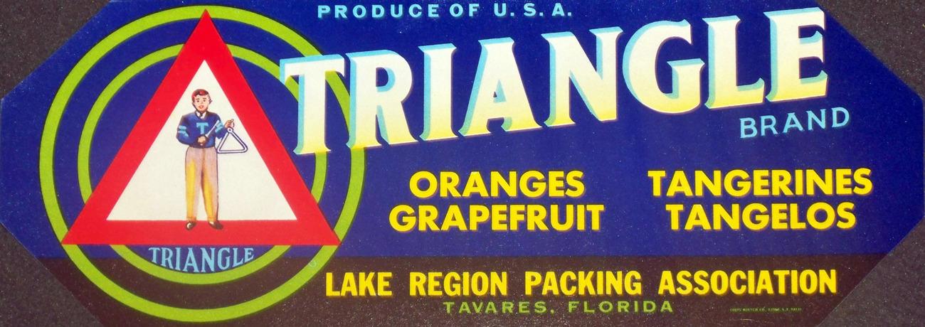 Bermuda! Triangle Crate Label, 1940's
