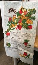 1978 Vtg Calendar w/ Veggies Tea Towel image 1