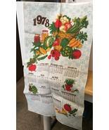 1978 Vtg Calendar w/ Veggies Tea Towel - $5.89