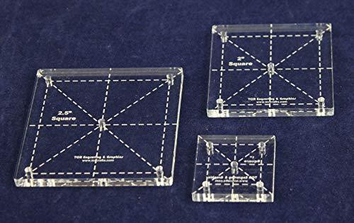 Mylar 1 Square /& 90 Degree Hexagon 102 Piece Set Quilting//Sewing Templates