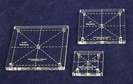 "Square Quilt Templates. 1/8"" 1"", 2"", 2.5"" - Clear - $15.99"