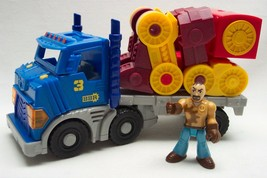 Fisher Price Imaginext CITY BIG RIG & ROBOT TRUCK WITH LIGHTS AND SOUND TOY - $19.80