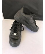 Nike Air Force One 1 Tennis Shoe Size 5.5 Black Athletic Trainers Low To... - $29.70