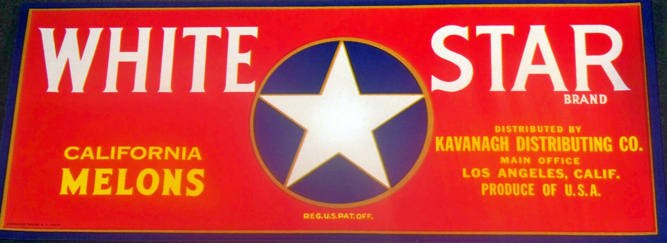 Patriotic! White Star Crate Label, 1940's