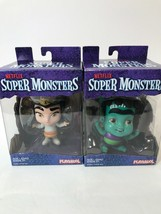 2 Netflix Super Monsters Frankie Mash & Cleo Graves Collectible 4-inch Figures - $18.70