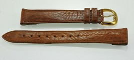Fossil Mens Light Brown Leather Replacement Clips Watch Band 20mm - $9.36