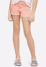 Justice Girl's Size 8 Color Denim Shorts in Bright Coral New with Tags - $17.81