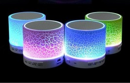 Mini Speakers A9 Led Color Flash Speaker FM Radio TF Card USB For all sm... - $10.42 CAD