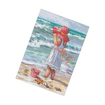 Dimensions Gold Collection Counted Cross Stitch Kit, Girl At The Beach, 18 Co - $36.99