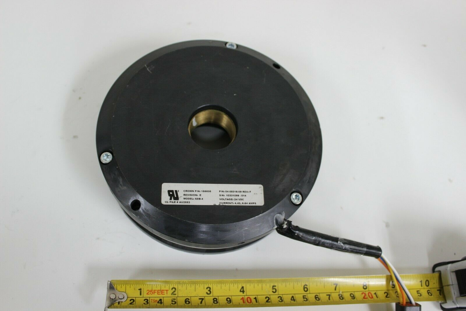 Crown 156605 Electromagnetic Clutch Model SDB-4 24 VDC Current 4.40 6.64 amps