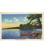 Vintage Unused Linen Newport Maine Postcard - $2.50