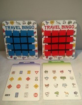 Melissa and Doug Travel Bingo, Flip to Win Wooden Game #2091, Red & Blue - $14.26