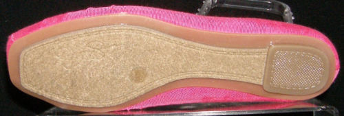 Jessica Simpson Emmly pink fabric scalloped square toe ballet flats 5.5M