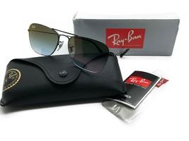 Sonnenbrille Ray-Ban Rb3603 002/T0 56 14 140 2n Schwarz Grün Farbverlauf - $107.17